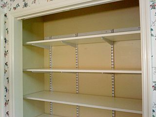 Superior Pantry Shelving Systems | Spent Part Of The Day Replacing Some Plastic  Coated Wire Shelves .