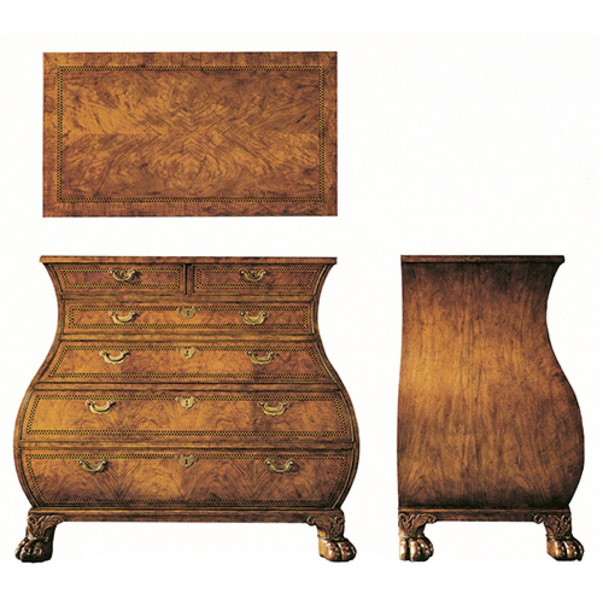 Shop For Baker Bombe Chest, And Other Bedroom Bombe Chests At Hickory  Furniture Mart In Hickory, NC. The Bombe Chest By Baker Is An Elegant And  Balanced ...