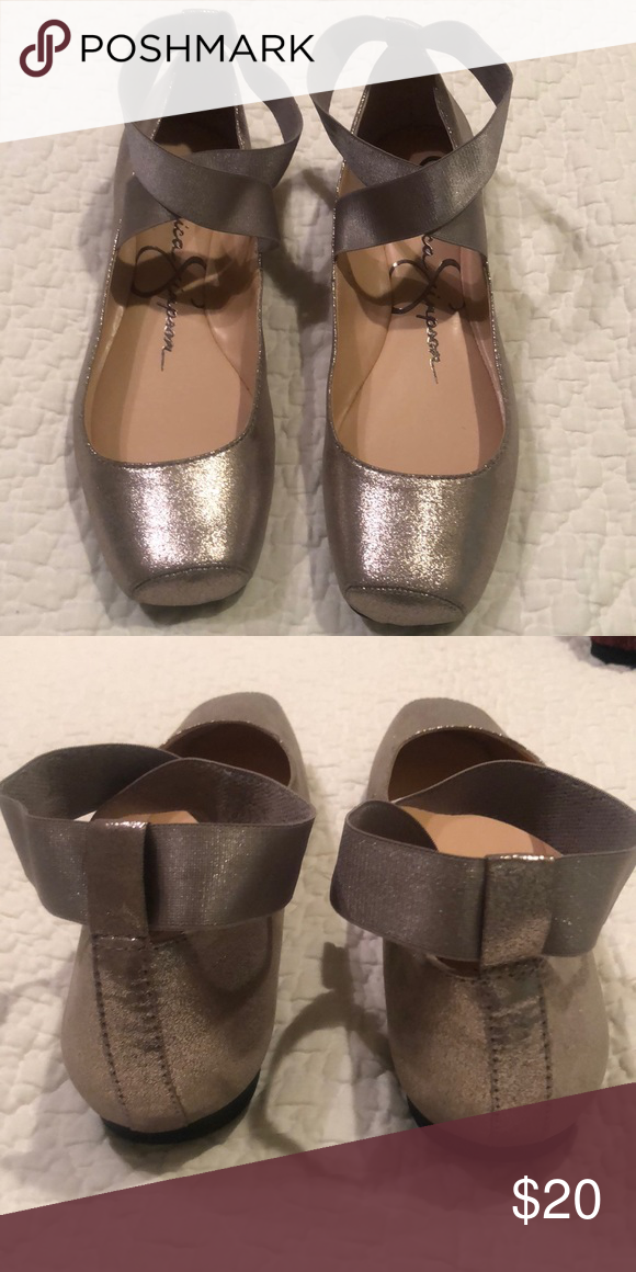 bdfa125ef49 New Jessica Simpson rose gold ballet flats Ladies flats with elastic ankle  straps that haven t been worn. Beautiful rose gold color.. Jessica Simpson  Shoes ...
