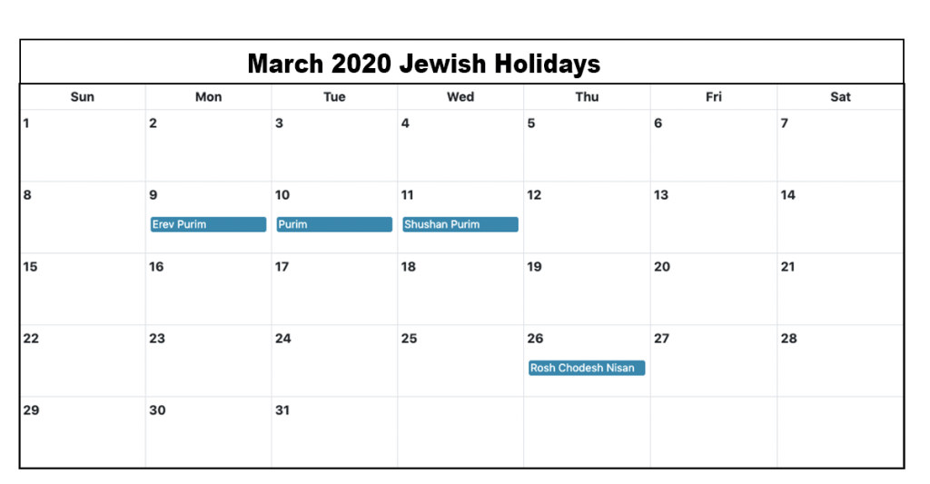 Full List Of March Holidays 2020 Calendar With Festival Dates