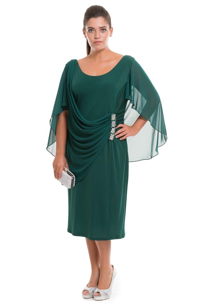 9c031fed796cb Zümrüt Yeşili Büyük Beden Abiye AL8609 | Abiyefon.com | giyim ...