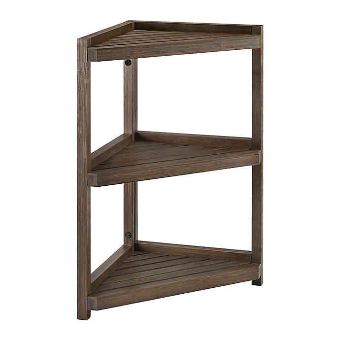 Haven No Tools Bamboo Corner Shelf Bed Bath Beyond Bed Bath And Beyond Shelves Corner Shelves
