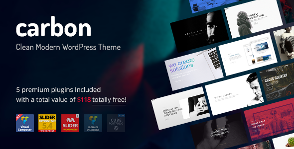 Carbon - Clean Minimal Multipurpose WordPress Theme - https ...