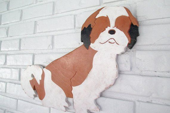 Special Price Shih Tzu Wooden Sign Rustic Vintage Dog Wall Art
