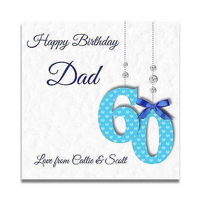 Handmade Personalised Mens 60th 70th 80th Uncle Dad Grandad Son Birthday Card