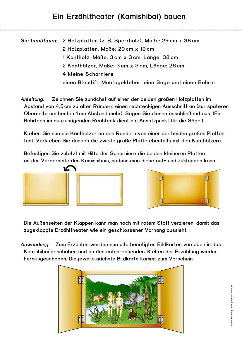 Kamishibai (Erzähltheater) | Schule | Pinterest | kostenlose ...