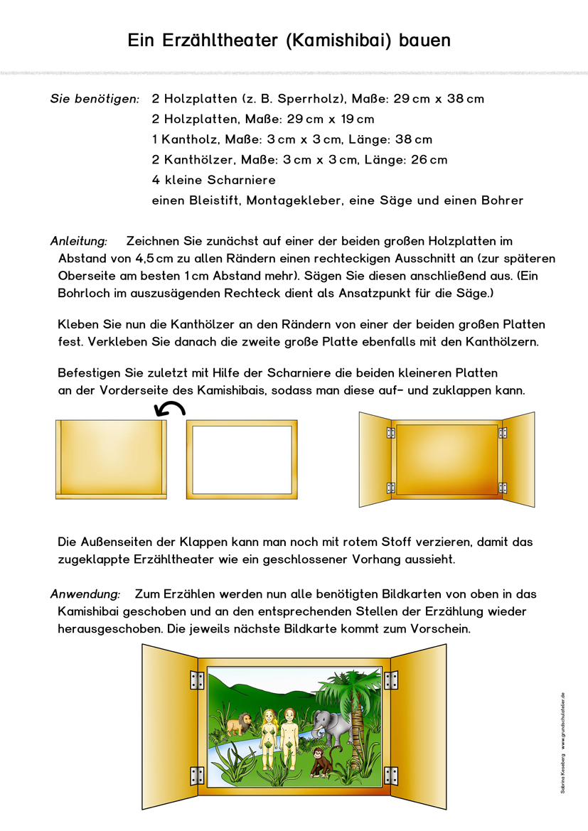 kamishibai erz hltheater schule erz hltheater grundschule und kostenlose arbeitsbl tter. Black Bedroom Furniture Sets. Home Design Ideas