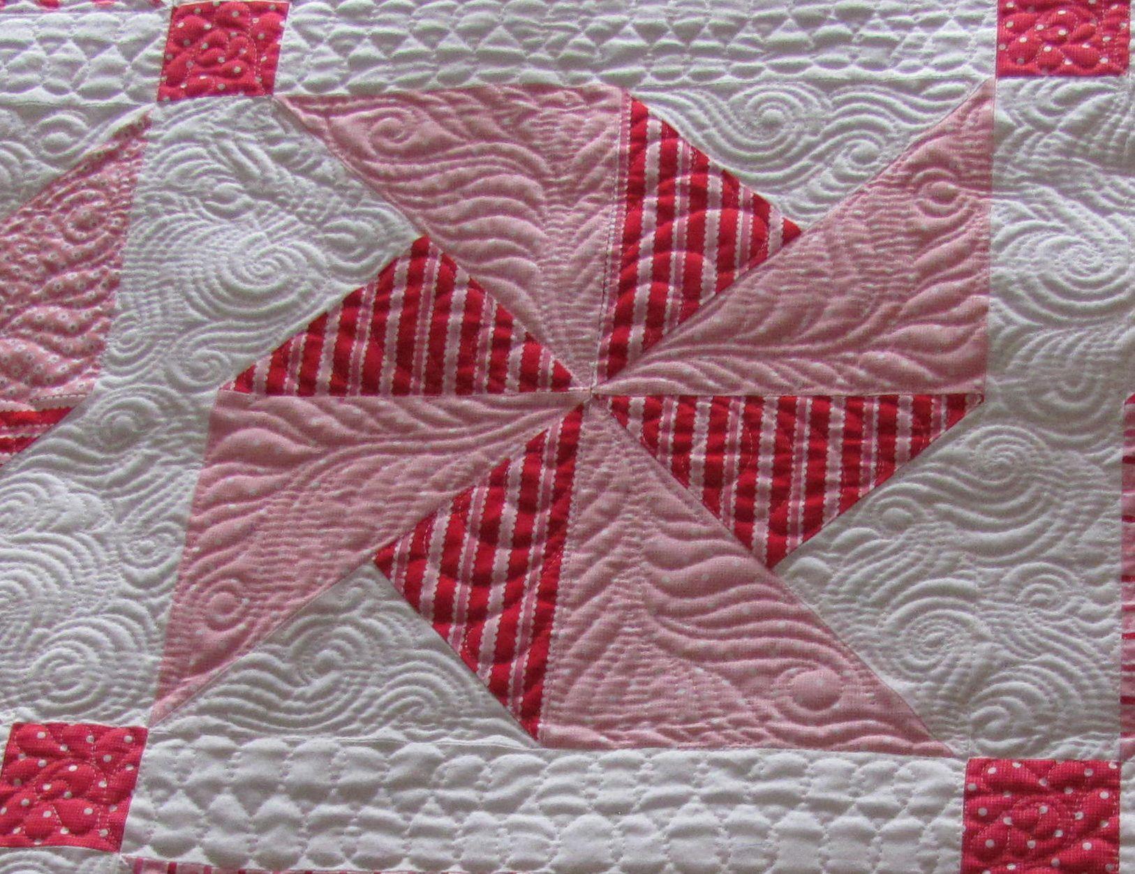 Machine Quilting Pinwheel Quilt Blocks Pretty In Pink