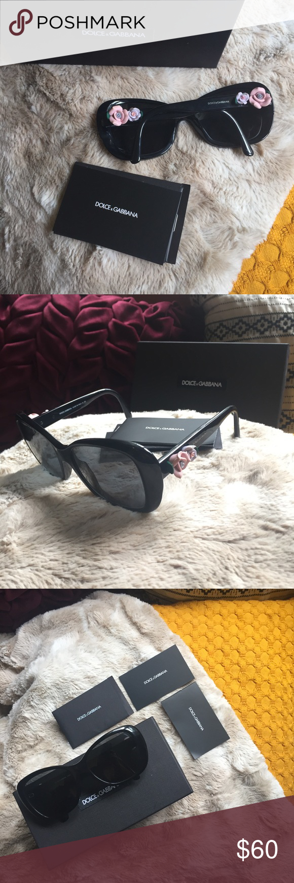 35cfddc3df D G Floral Jackie O Sunglasses 🕶