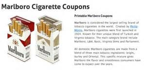 Cigarette coupons on my phone