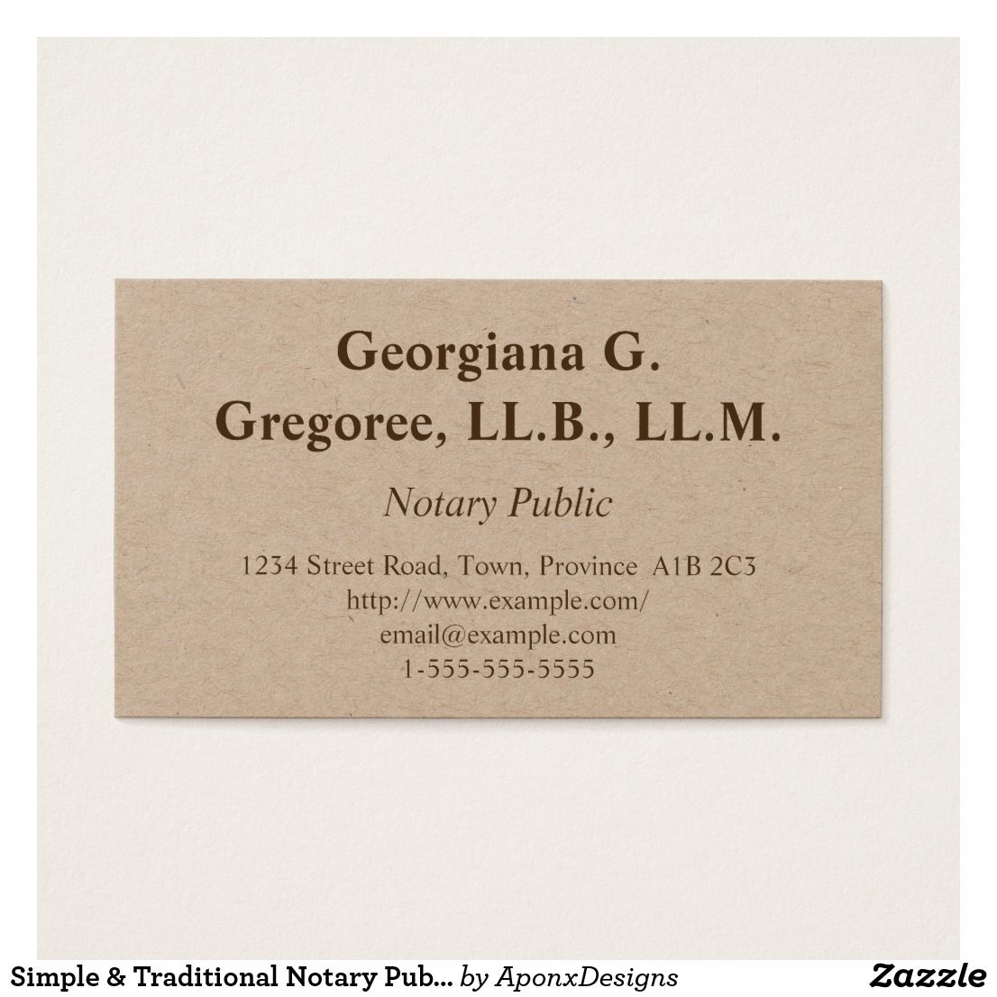 Simple Traditional Notary Public Business Card Zazzle Com Notary Public Business Printing Business Cards Notary Public