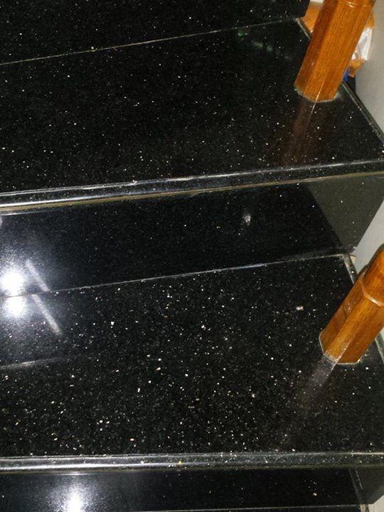 The Most Popular Black Galaxy Granite Steps And Risers Granite