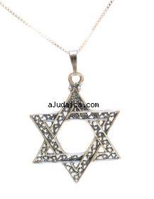 Star of David Filigree Pendant in Sterling Silver by aJudaica
