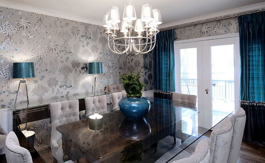 Trendy Wallpaper Styles For The Dining Space That Should Never Be Forgotten - http://www.decorazilla.com/interior-design-2/trendy-wallpaper-styles-for-the-dining-space-that-should-never-be-forgotten.html