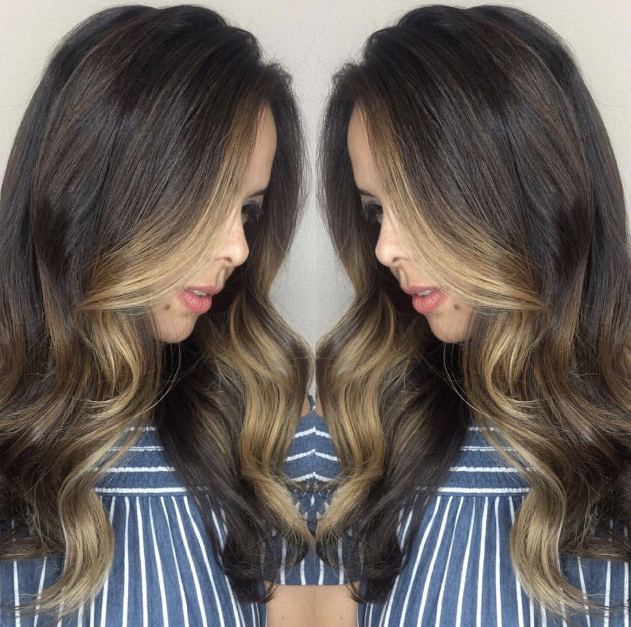 Flawless Caramel Balayage And Look At That Money Piece By
