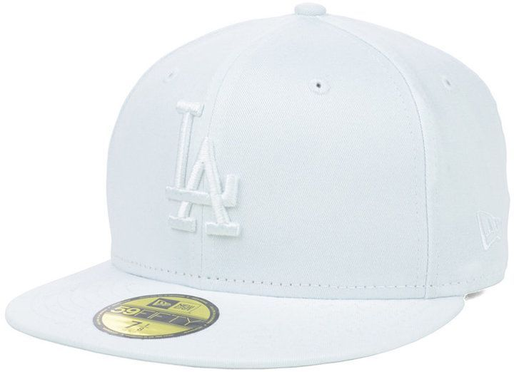 reputable site 80a54 6eb24 New Era Los Angeles Dodgers White-On-White 59FIFTY Cap