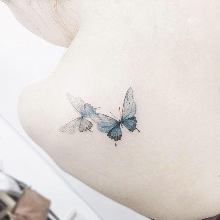 """Photo of Tattooist flowers on Instagram: """"# tattoo # tattoos # tattooing # tattooart # butterfly # butterflies # butterflytattoo # colortattoo # tattoo # navitatattoo # colortattoo # tattooistflower # tattooistflower butterfly"""""""
