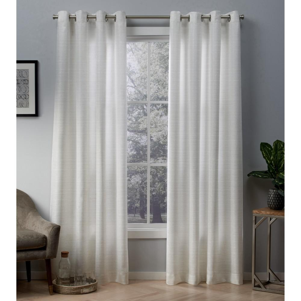 Whitby 54 In W X 108 In L Metallic Slub Grommet Top Curtain