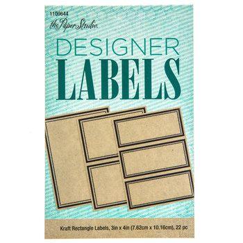 Kraft Rectangle Designer Labels Labels Pinterest Designers