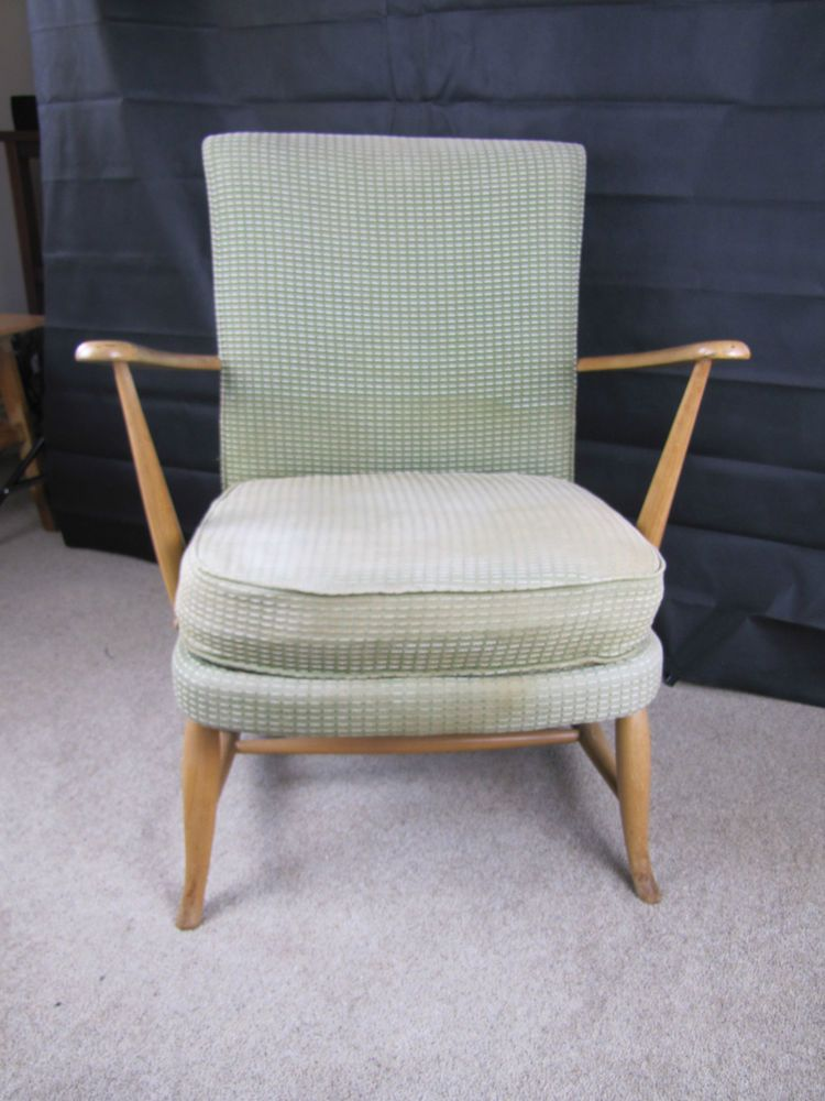 ercol chair design numbers white slipcovered vintage easy early 50 s original upholstery model number 248