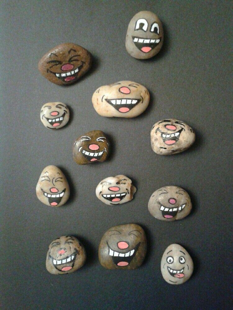 Funny Faces Rocks Artbym Painted Rocks Painting Art