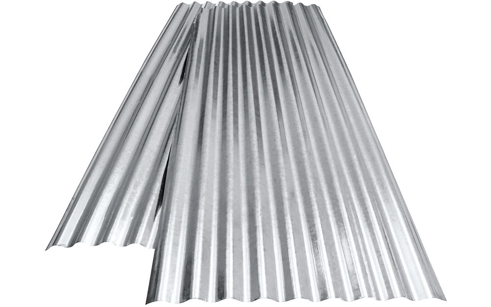 Two Galvanized Metal Roof Panels In 2020 Metal Roof Installation Metal Roof Panels Steel Roof Panels