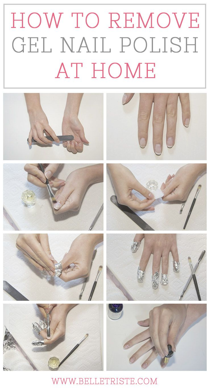 How To Remove Gel Nail Polish At Home The Beauty Thesis Gel Nail Removal Take Off Gel Nails Remove Gel Polish