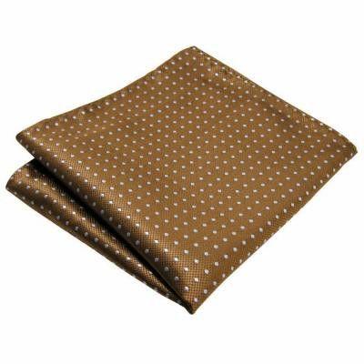 Pocket Square - Woven Jacquard silk in solid khaki beige Notch AoZbhF9
