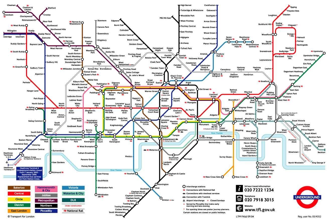 Metro London Metro Londonien Plan De Londres Carte Londres