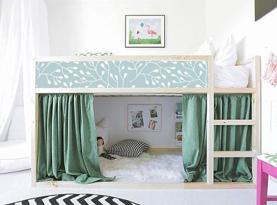 IKEA KURA Bett wieder ablösbare Aufkleber Ast | IKEA Kinderzimmer Aufkleber | Möbel Aufkleber | Möbel-Wandtattoo-Set | Kinder-Dekor | K #2 #ikeakinderzimmer