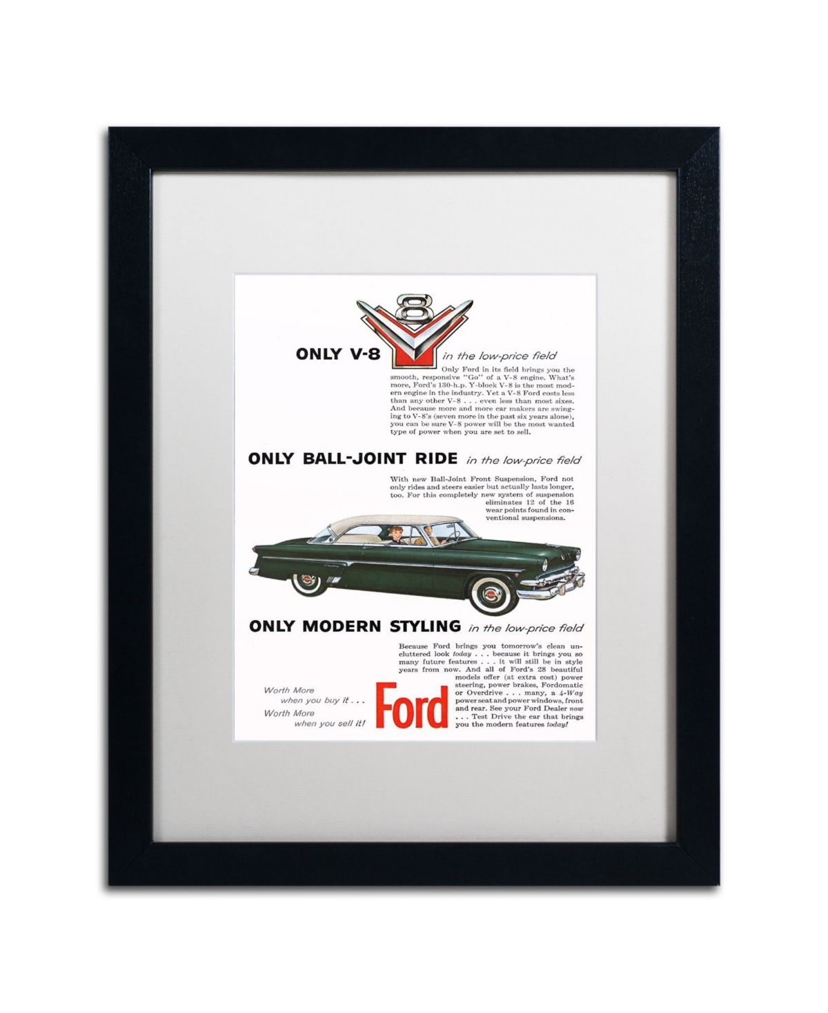 Ford Vintage Ad Victoria Matted Framed Art Fd053 16 X 20