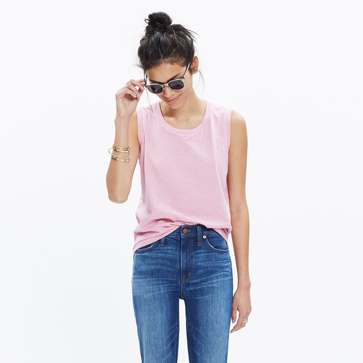 Whisper Cotton Crewneck Muscle Tank : AllProducts | Madewell