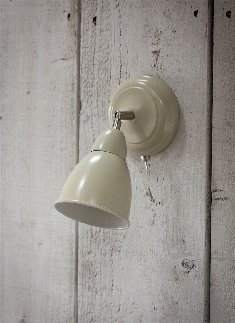 Chiswick Wall Lamp in Clay with an adjustable ball hinge arm and a ...