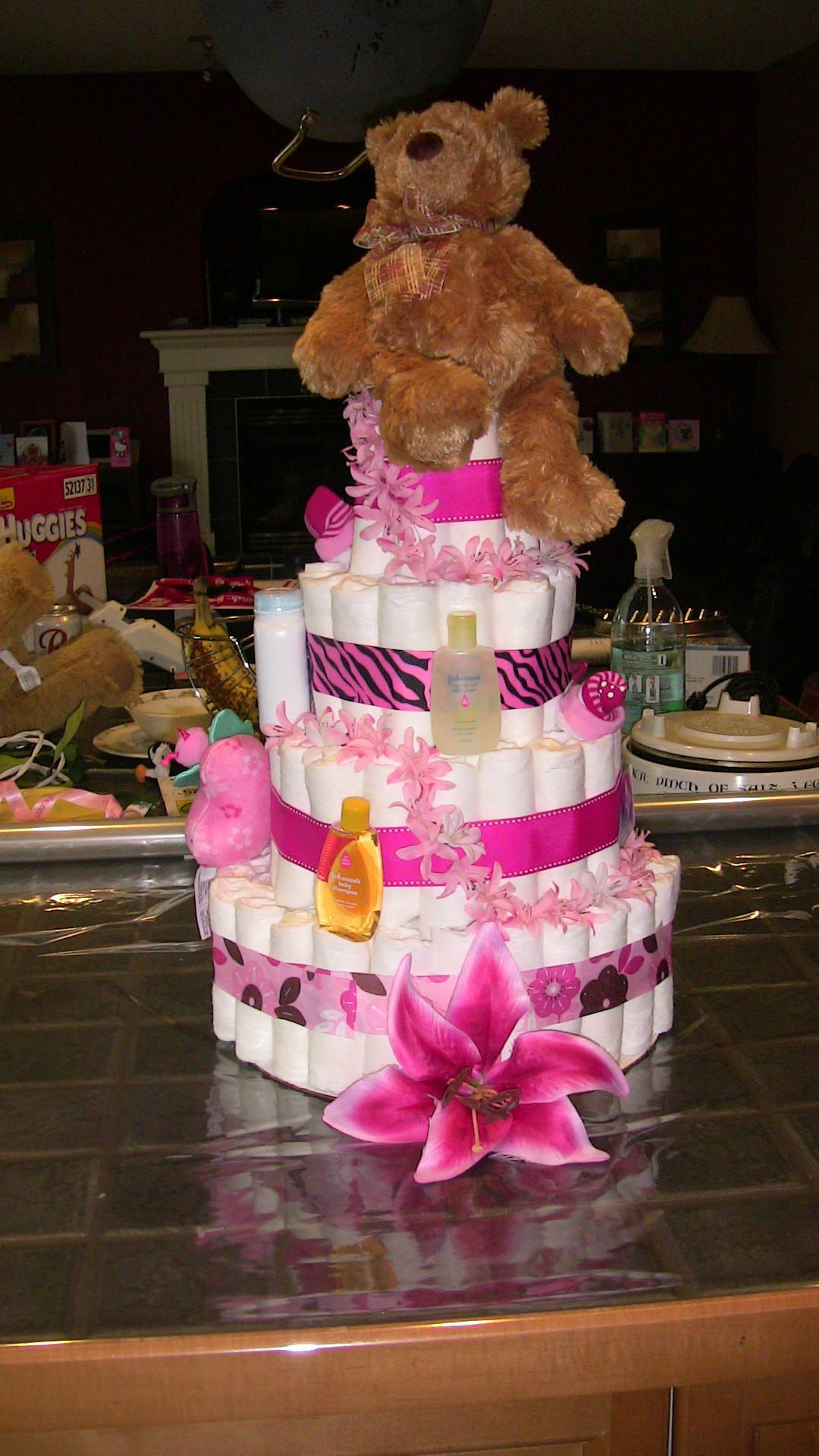 """"""" lilly"""" by Sweet and Cheeky Diaper Cakes"""