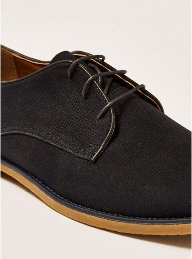 df3de4cdc61f Navy Faux Suede 'Spark' Desert Shoes in 2019 | Products | Desert ...