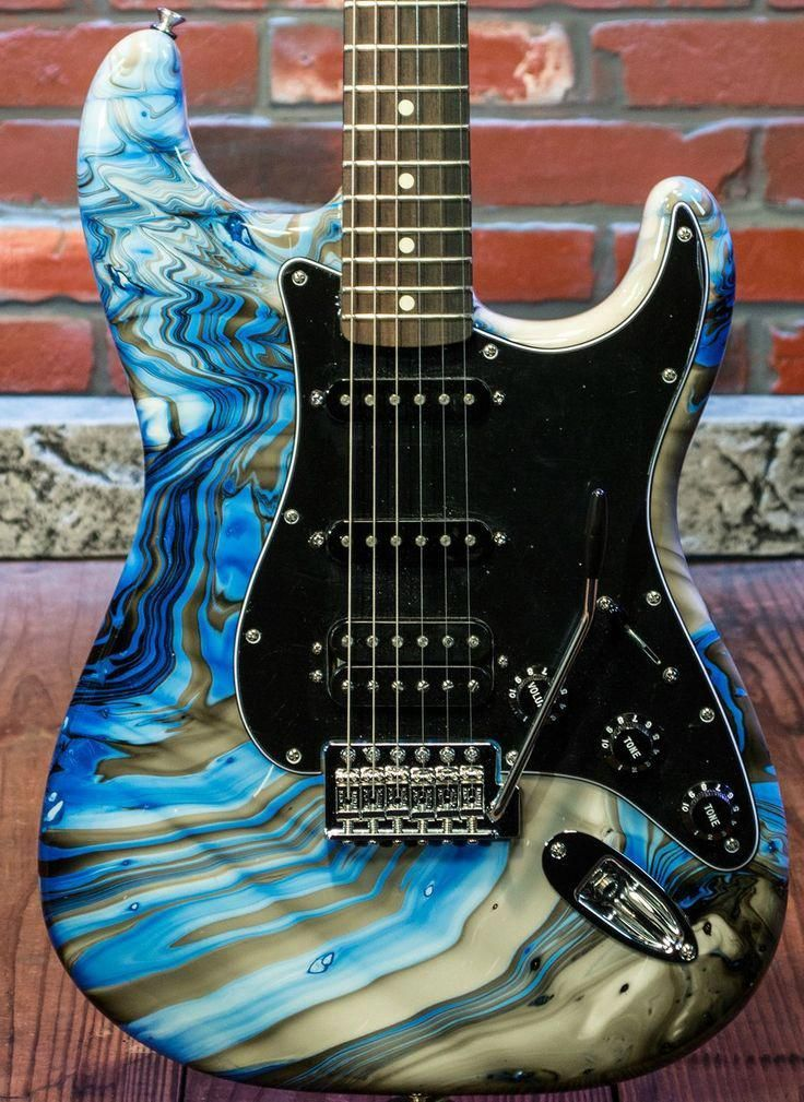 Swirled Fender Stratocaster #electricguitar #fenderstratocaster