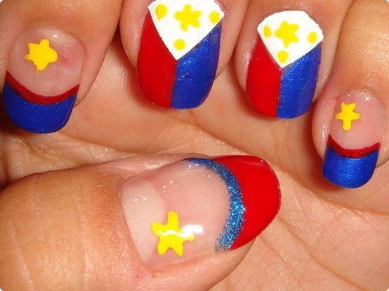 Philippine Flag Nail Art Go Pacquiao Nails Pinterest Flag