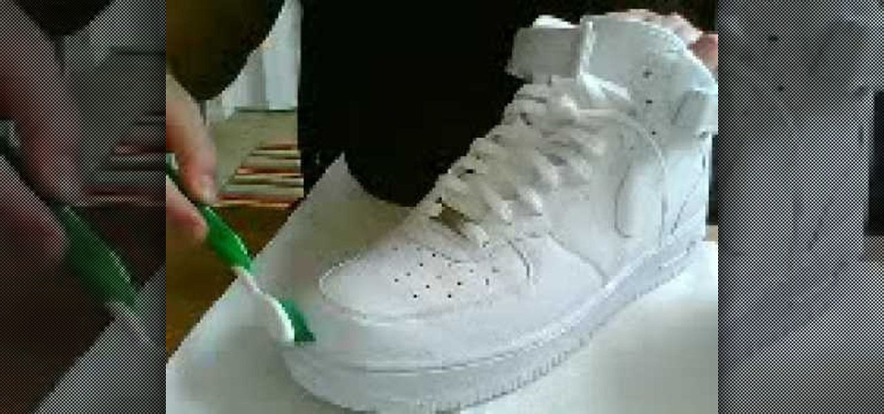 How to Clean a pair of white Nike Air Force Ones