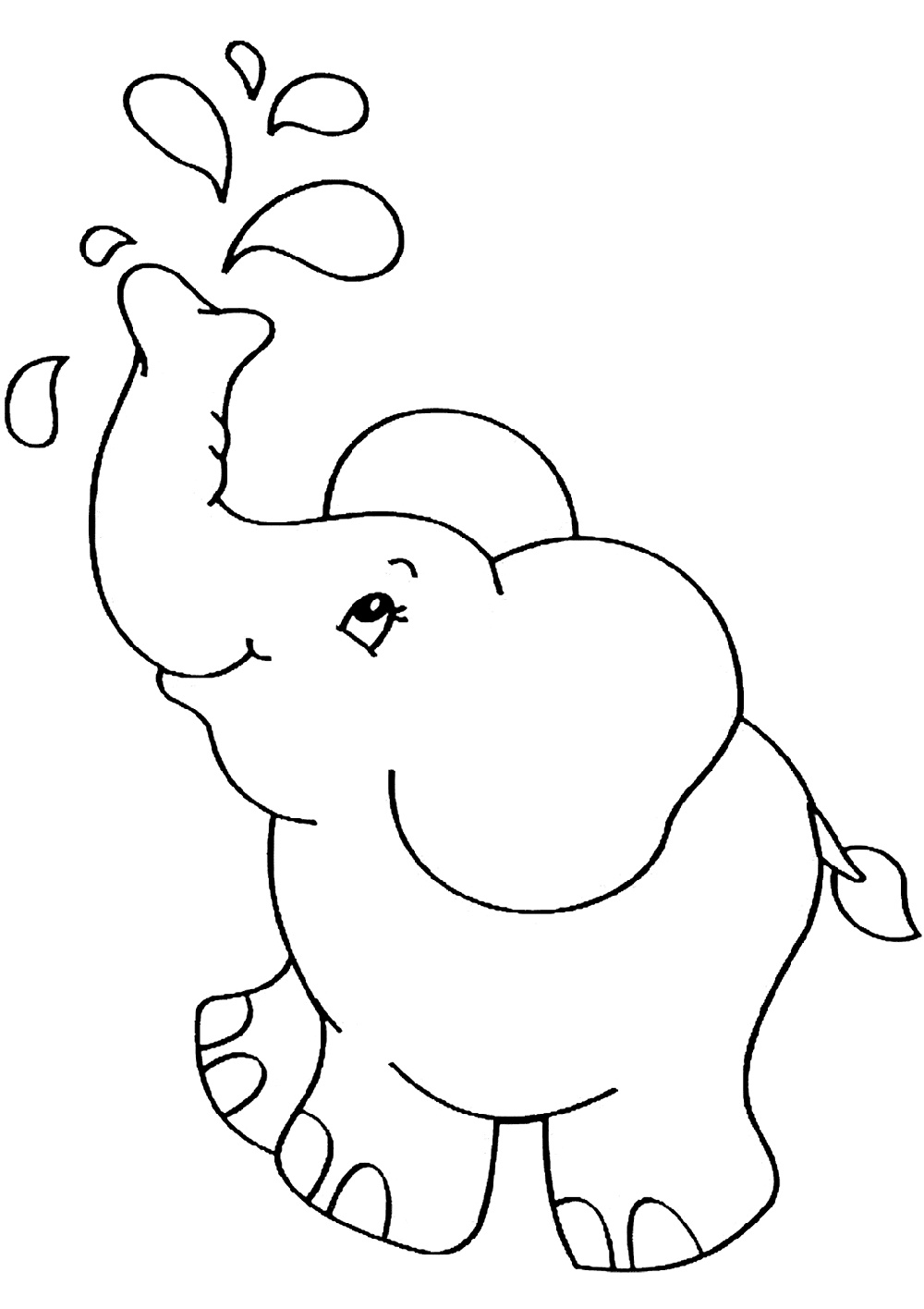 Baby Elephant Coloring Pages for Kindergarten in 2020