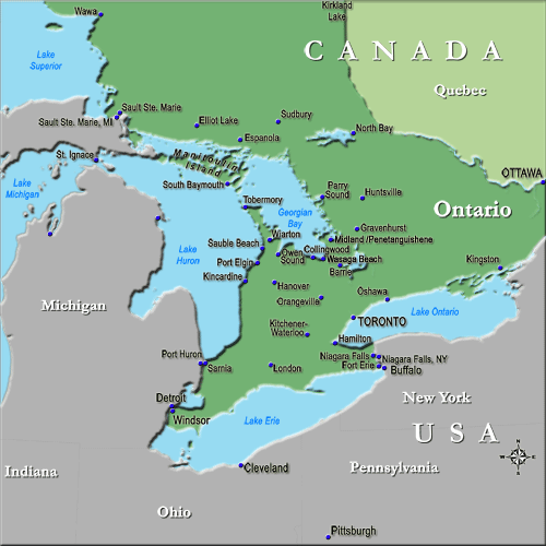 Map Directions Ontario Canada Maps, Directions, Contact Information   Vacation, Travel and