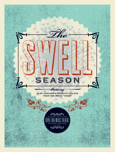 great poster for the swell season.
