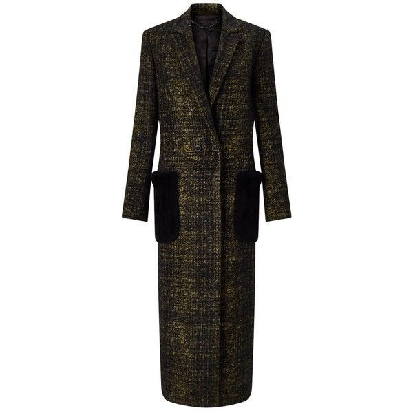 Jigsaw Haze Check Patch Pocket Coat, Black (21.805 RUB) ❤ liked on Polyvore featuring outerwear, coats, double-breasted coat, double breasted long coat, slim fit coat, slim coat and longline coat