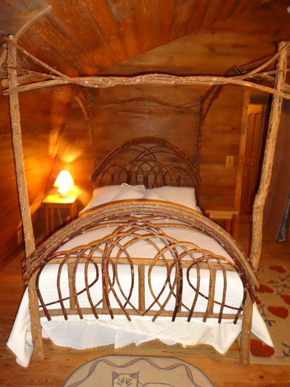 queen size willow canopy bed by backswampwillow on etsy home pinterest canopy queen size. Black Bedroom Furniture Sets. Home Design Ideas