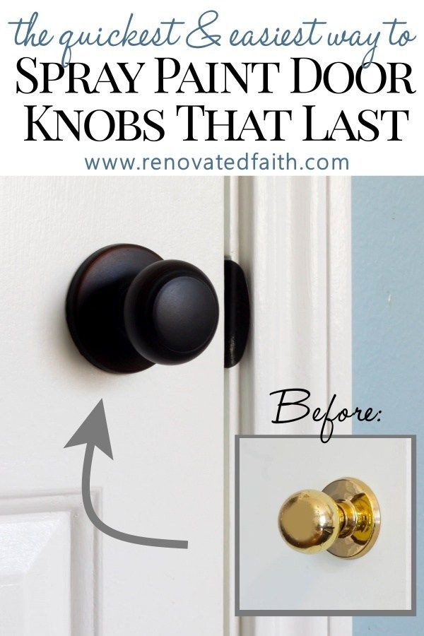 How To Spray Paint Door Knobs Refinishing Door Hardware