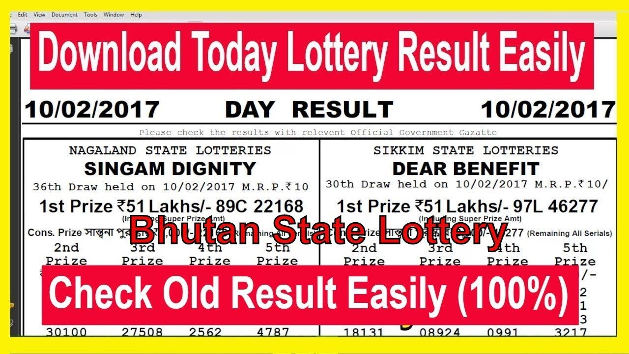 How To Download Bhutan State Lottery Today Result & Old Resu
