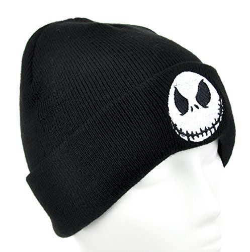 4c0bb2355729d Jack Skellington Evil Grin Cuff Beanie Nightmare Before Christmas Knit Cap