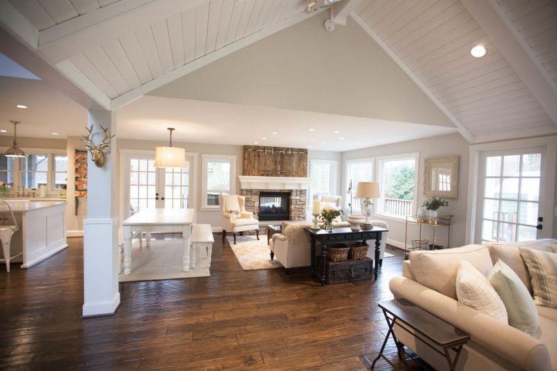 White End Table Living Room Farmhouse