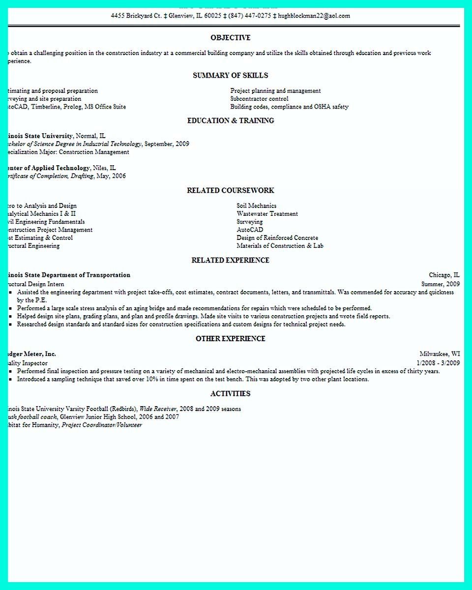 Nice Simple Construction Superintendent Resume Example To Get Applied Check More At Http Snefci Org S Resume Writing Services Resume Writing Resume Examples