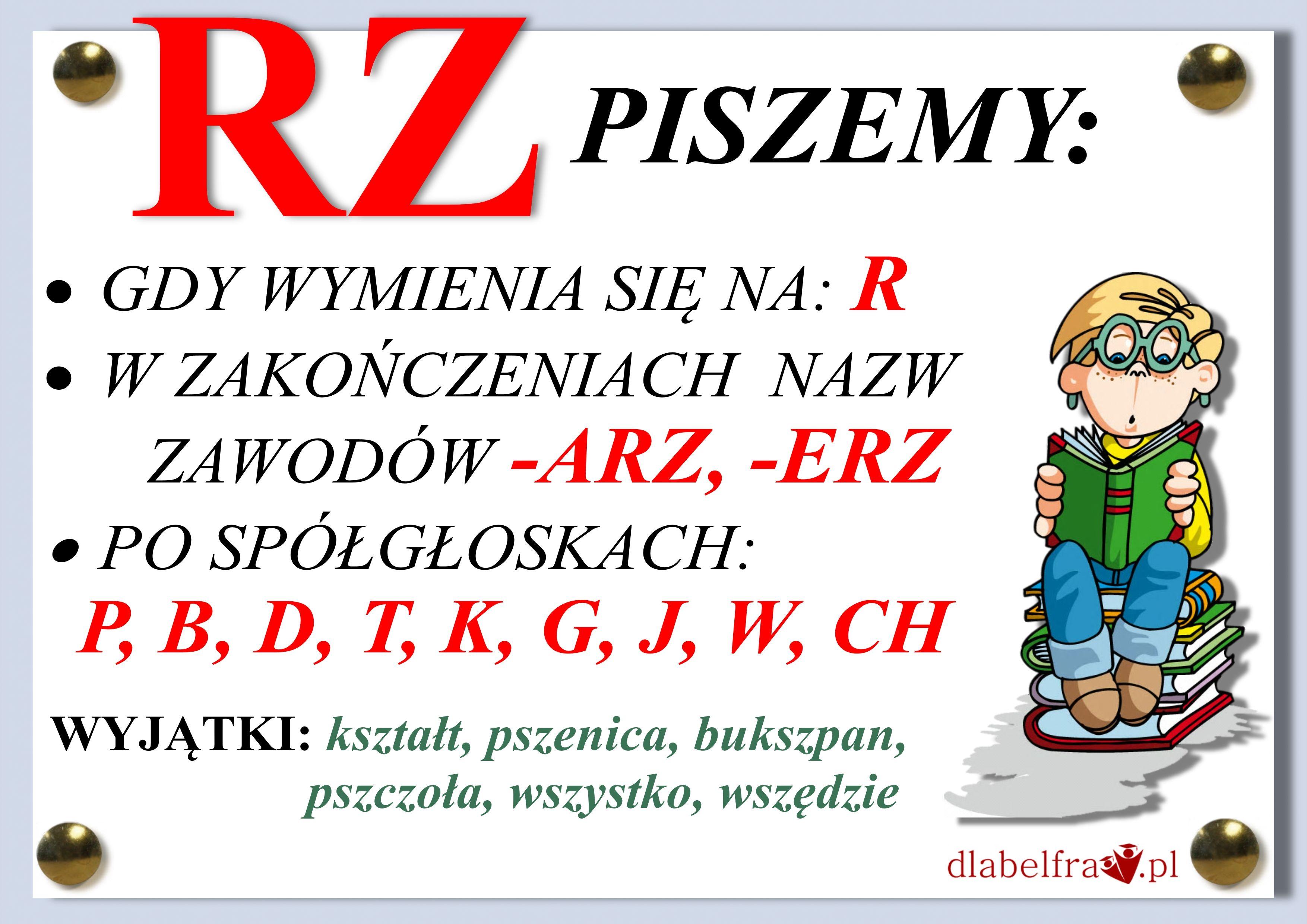 Plansze Z Zasadami Ortograficznymi Dla Uczniow Klas I Iii Dla Belfra Polish Language Teaching Activities Education