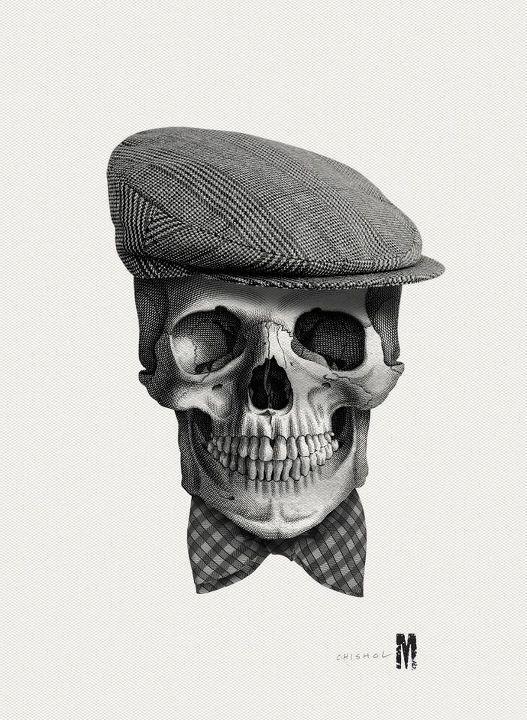 Gentleman Skull Skull Art Skull Skull And Bones